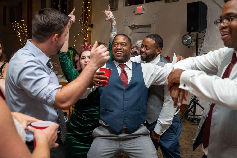crazy wedding dance party