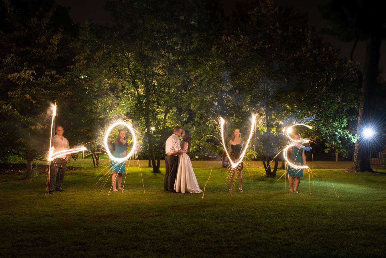 spelling with sparklers