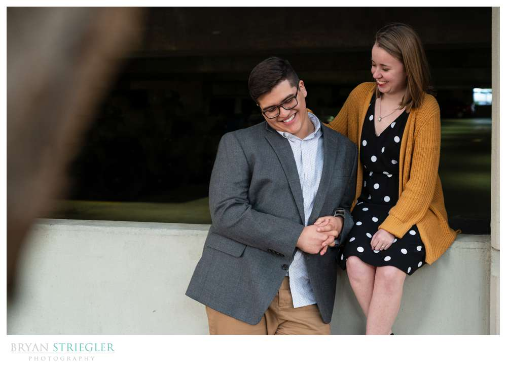engagement photo with emotion