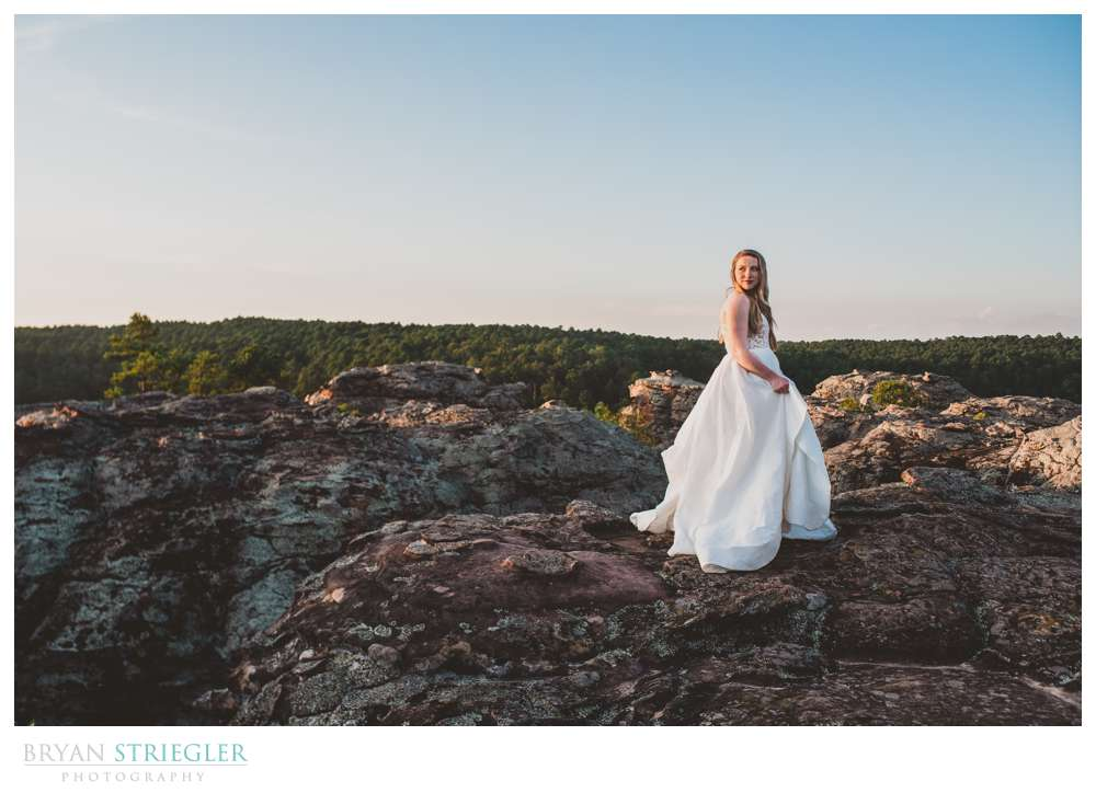 bridals in the top of a mountain