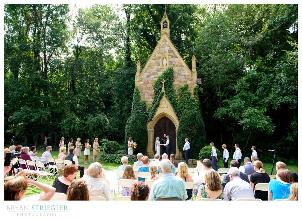 outdoor wedding at St. Catherine's at Bell Gable