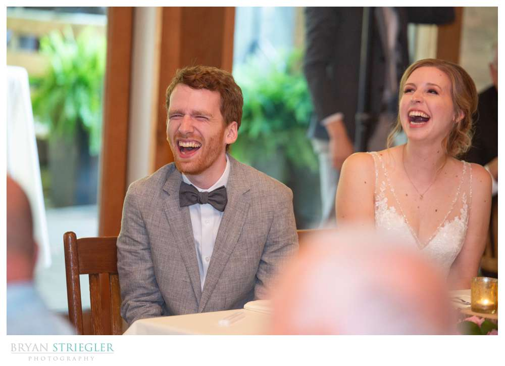 laughing during speeches