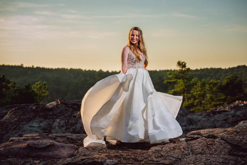 bridals at Petit Jean state park