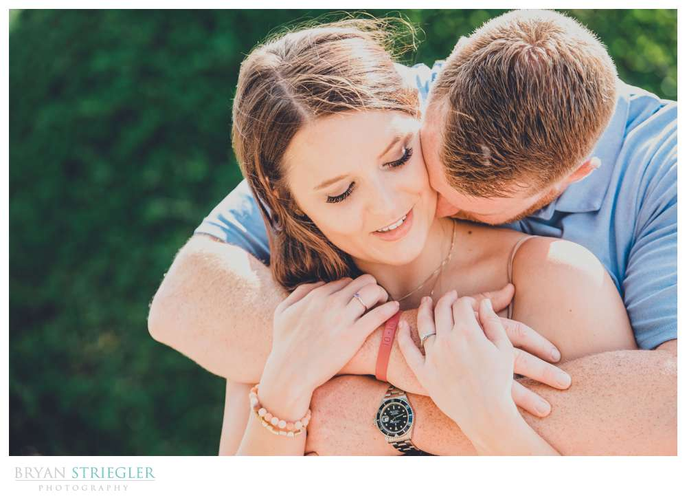 bright and colorful engagement photo