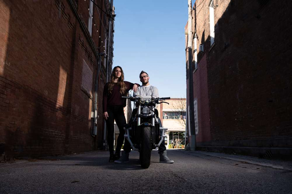 engagement+motorcycle+in+alley