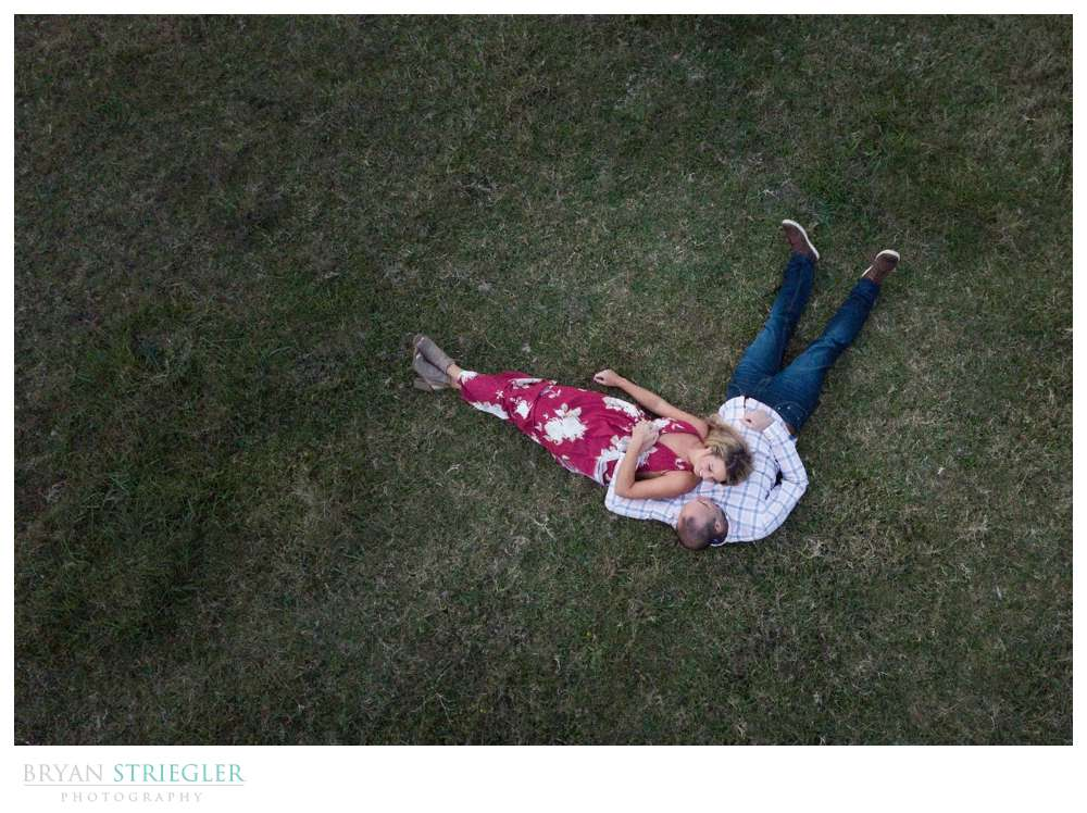 using a drone for wedding photography