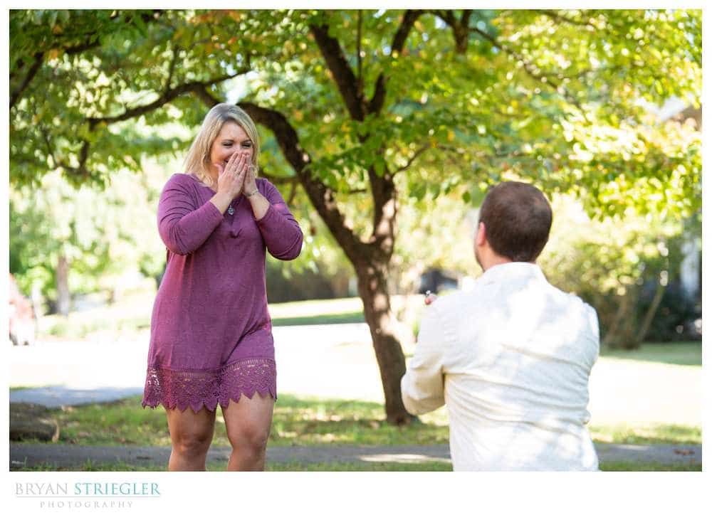 reaction to marriage proposal