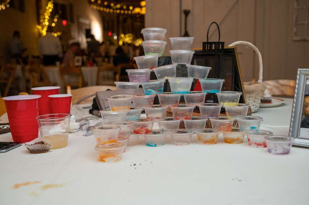 jello shots at wedding
