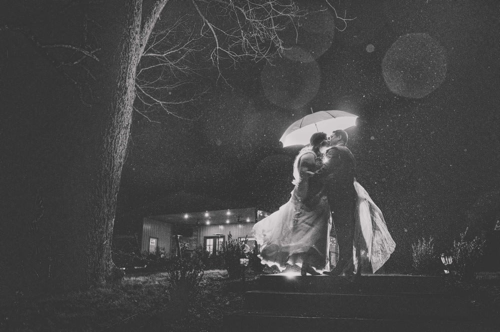 bride and groom together during micro wedding