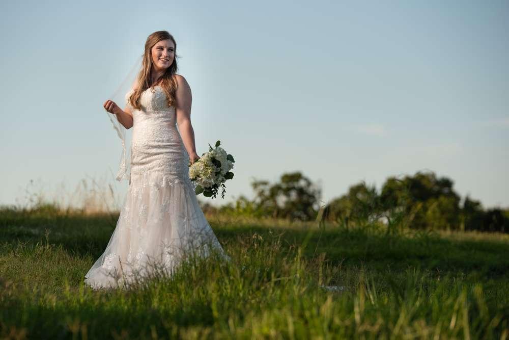 sunset bridal portrait