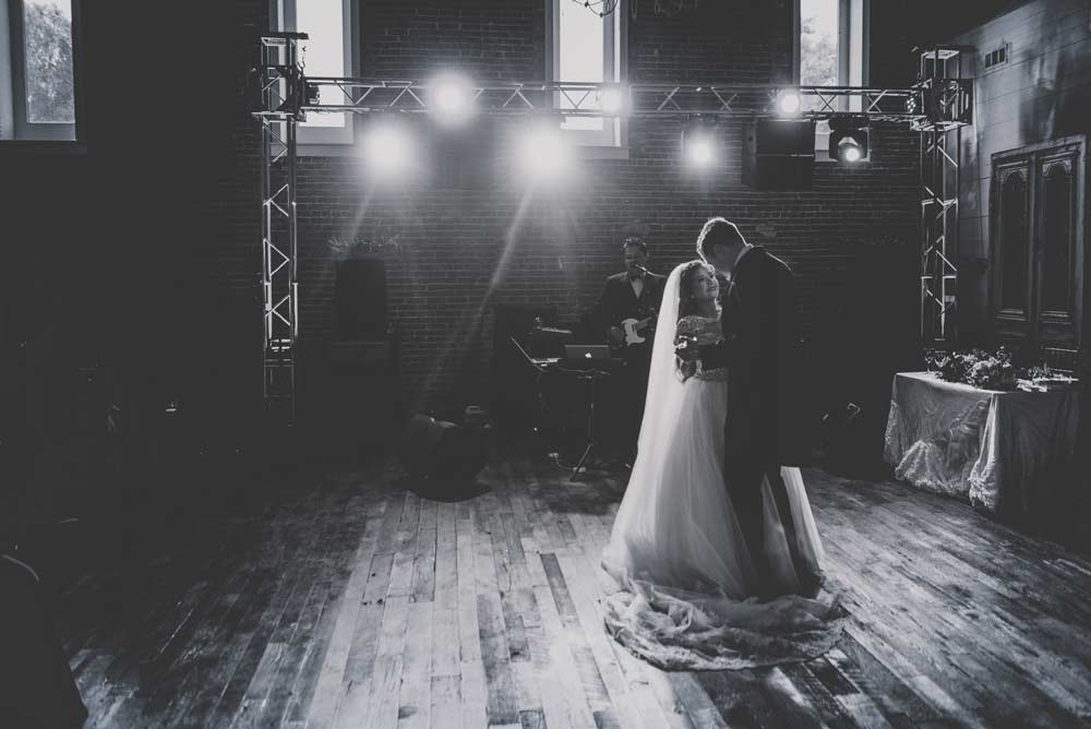 First Dance at the Ravington in Black and white