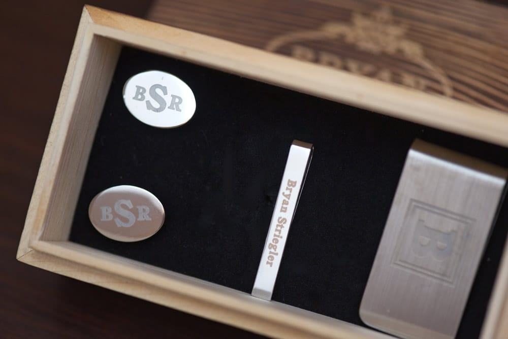 nice cuff links with initials