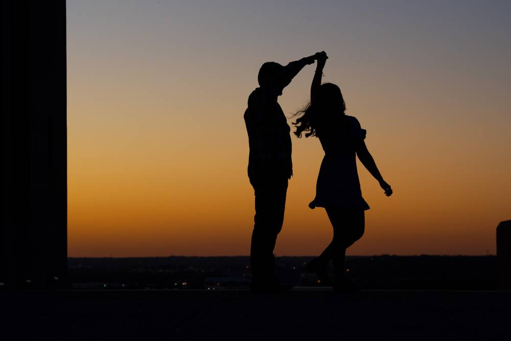 dancing silhouette photo
