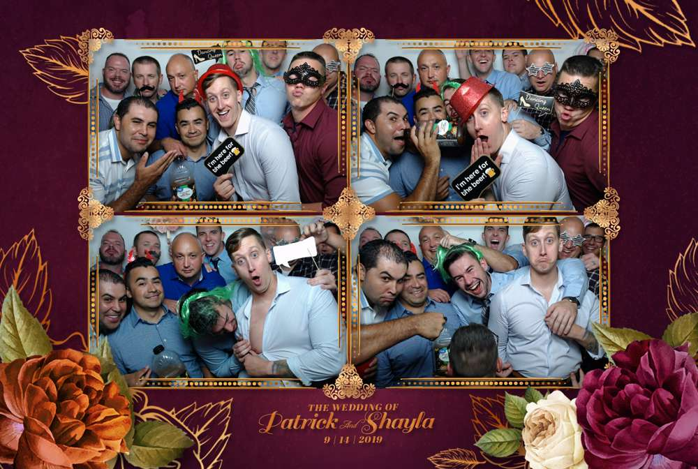 crazy group at photo booth