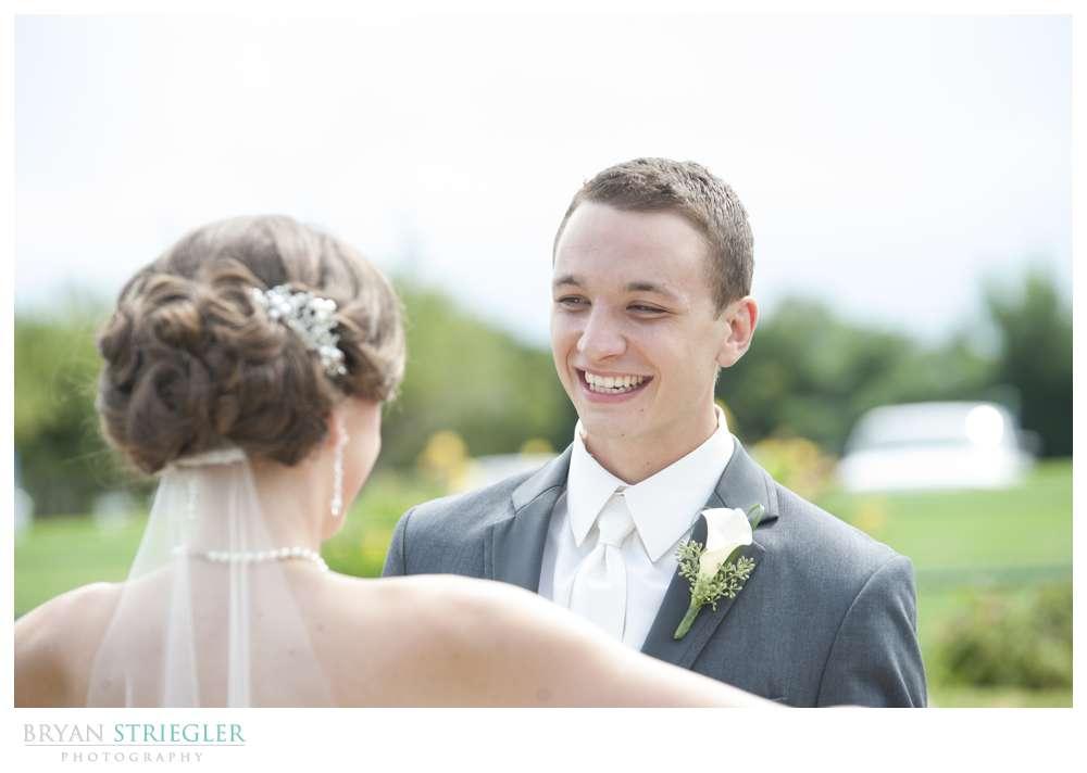 Northwest Arkansas Wedding Photographers first look