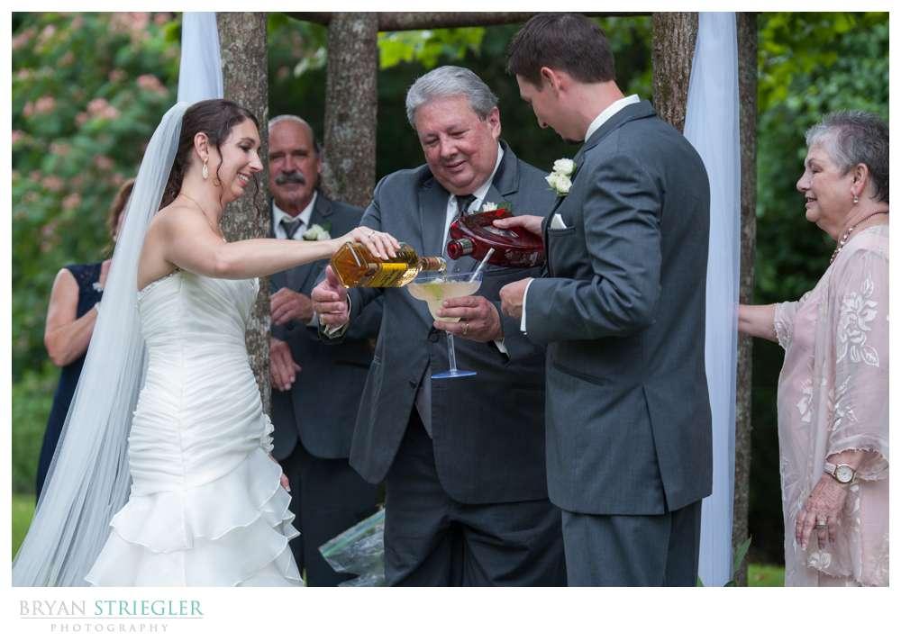 Rogers Wedding Arkansas making margerita