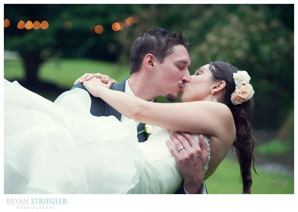Rogers Wedding Arkansas in arms