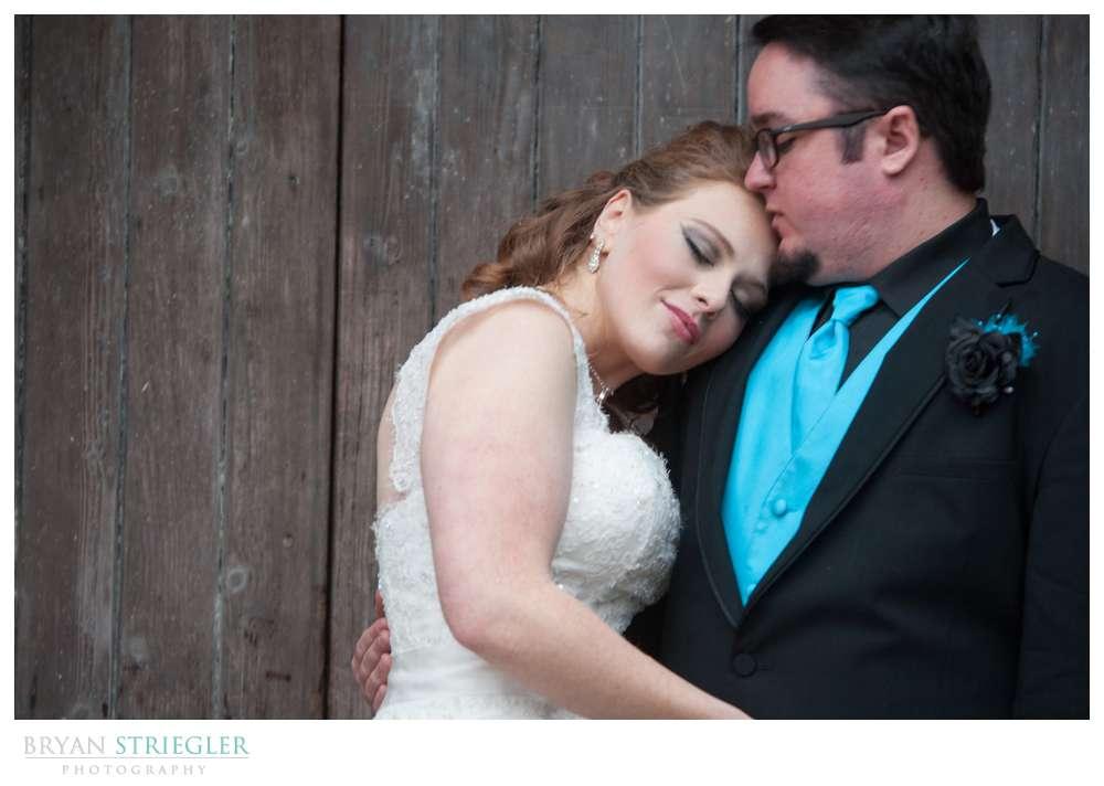 Fayetteville Wedding Photographer bride leaning on groom