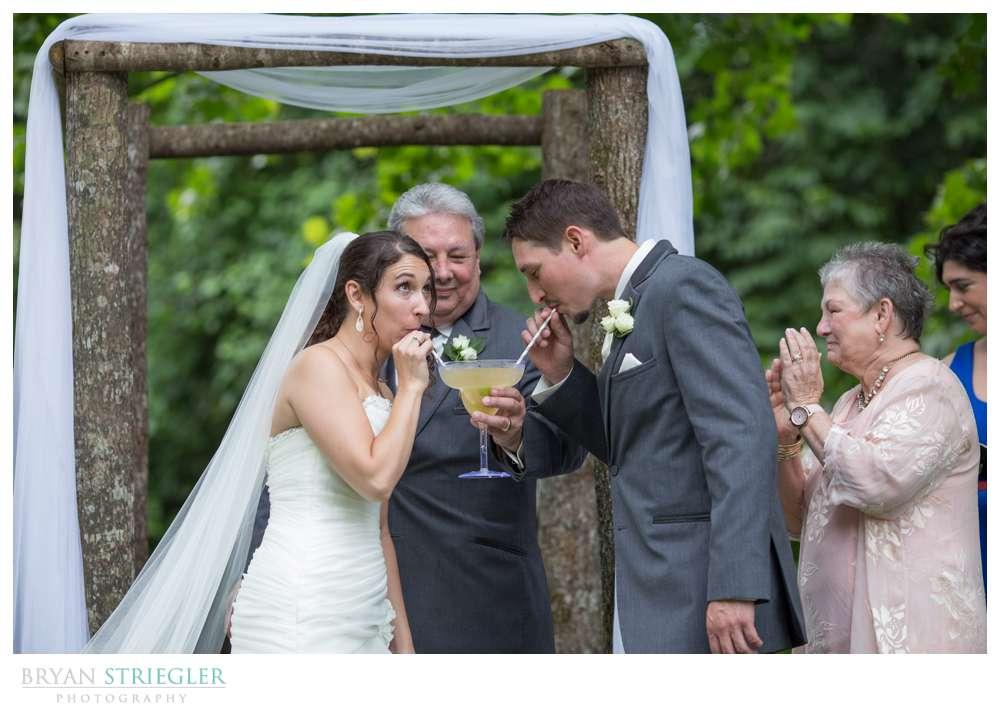 Rogers Wedding Arkansas sipping margerita