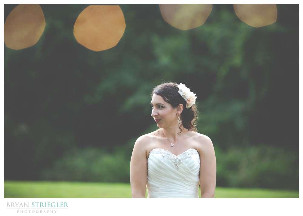 Rogers Wedding Arkansas bride with lights