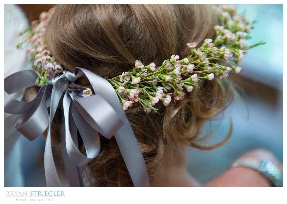 Creative wedding flower girl