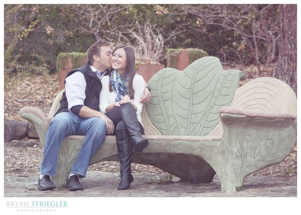 Engagement Photos sitting in chair