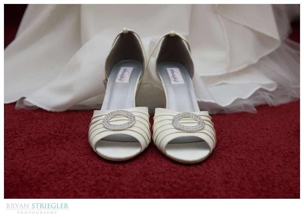 Northwest Arkansas Wedding Photographer white shoes