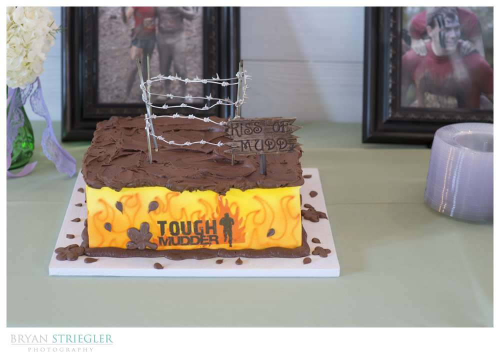 Northwest Arkansas Wedding  Tough Mudder cake