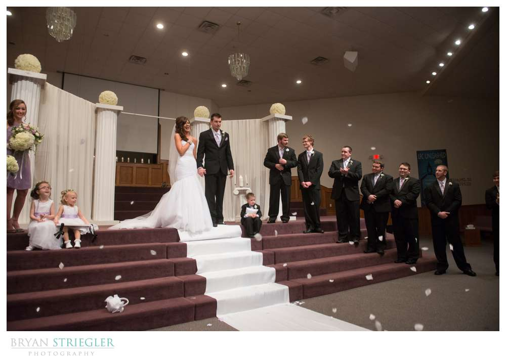 Fayetteville wedding photographer confetti exit