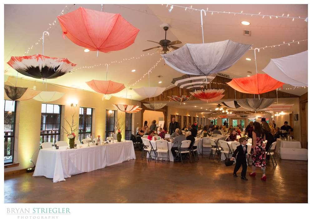 Creative wedding reception decorations umbrella