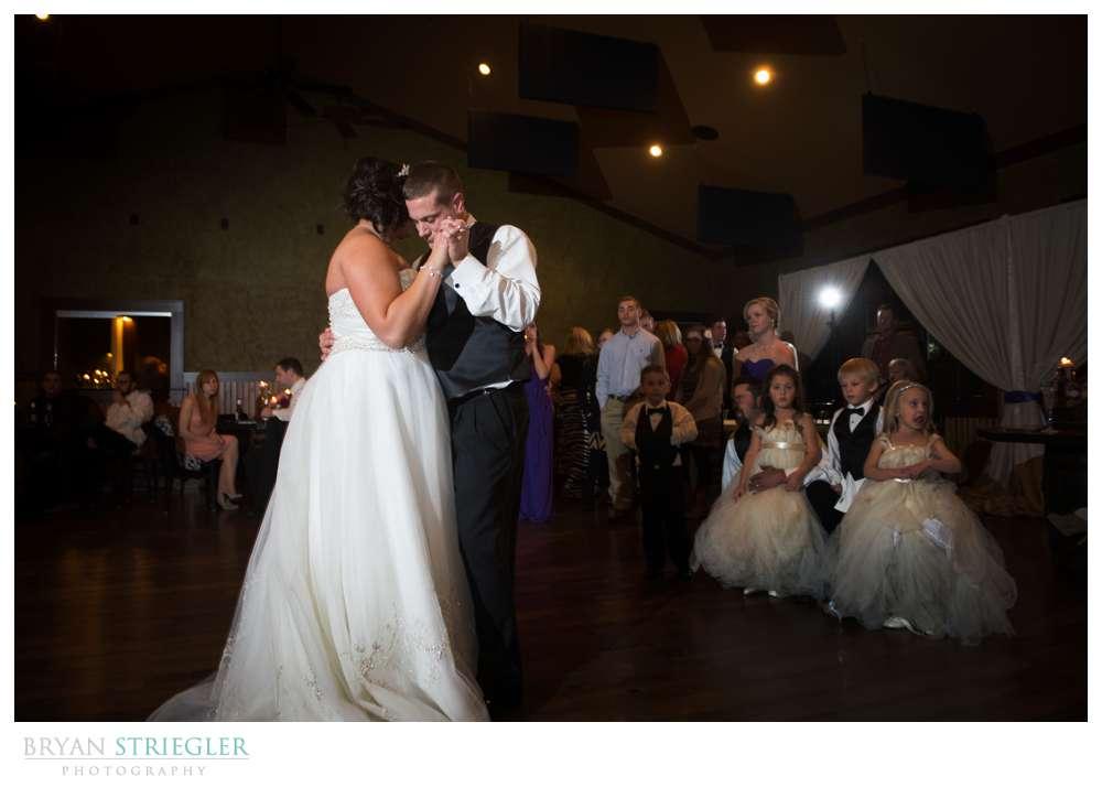 Northwest Arkansas Wedding Photographer couple dancing