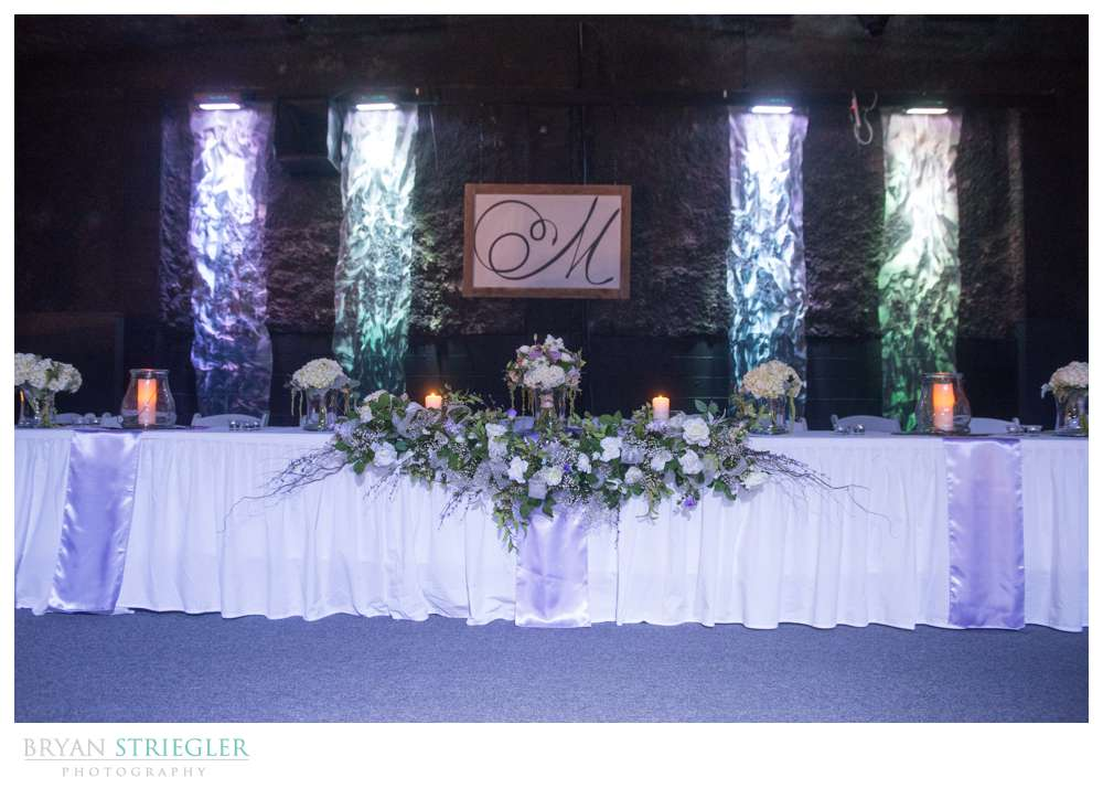 Fayetteville wedding photographer head table with sign