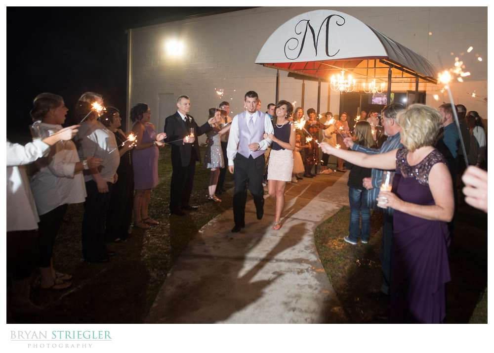Fayetteville wedding photographer sparkler exit