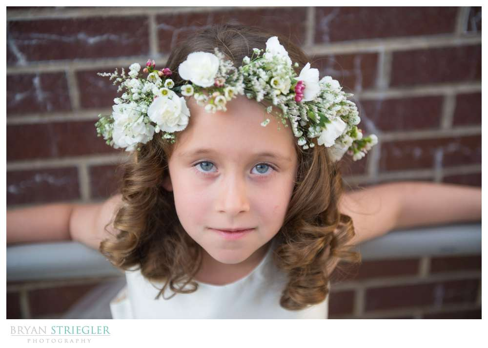 Fayetteville, Arkansas wedding flower crown