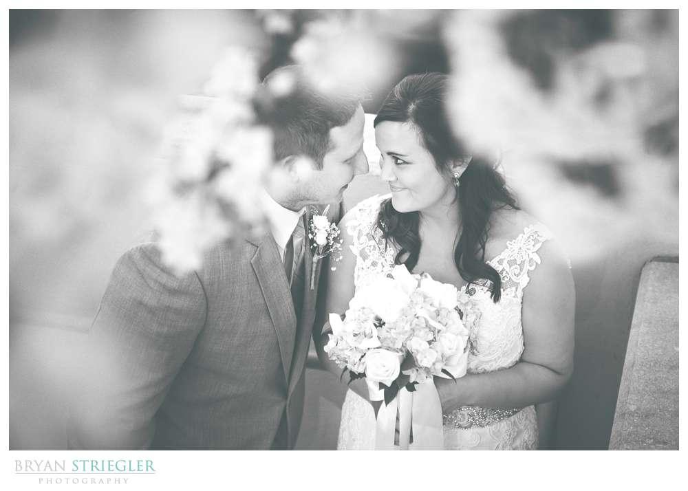 Fayetteville, Arkansas wedding black and white couple under tree