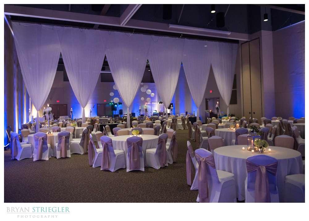 Fayetteville, Arkansas wedding reception decorations