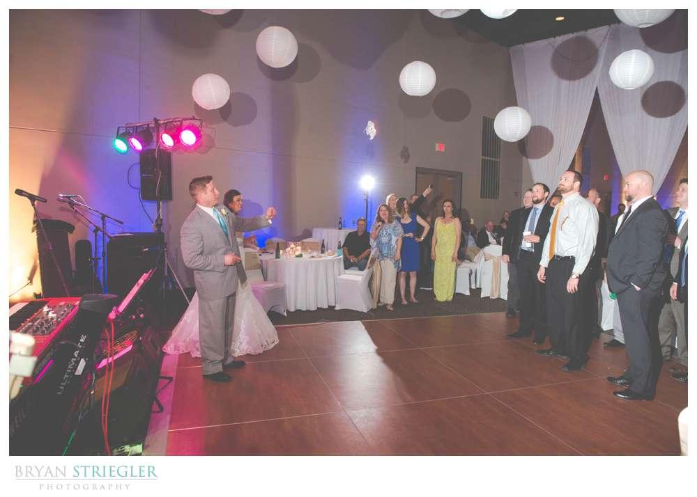 Fayetteville, Arkansas wedding garter toss