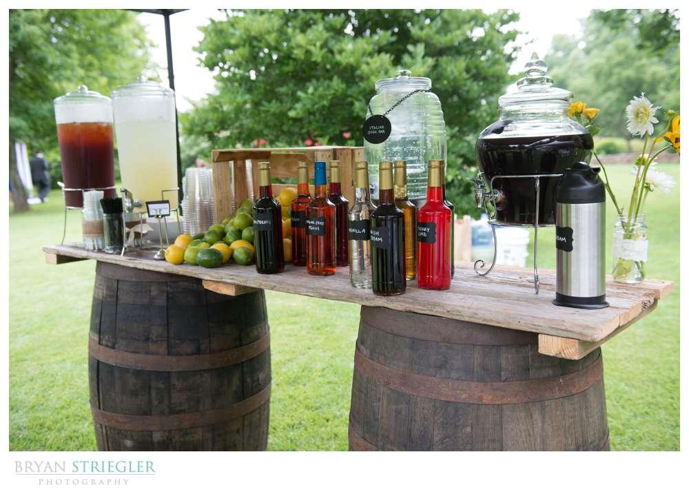 Rogers Wedding Arkansas drink bar
