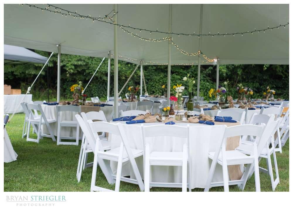 Rogers Wedding Arkansas reception tables