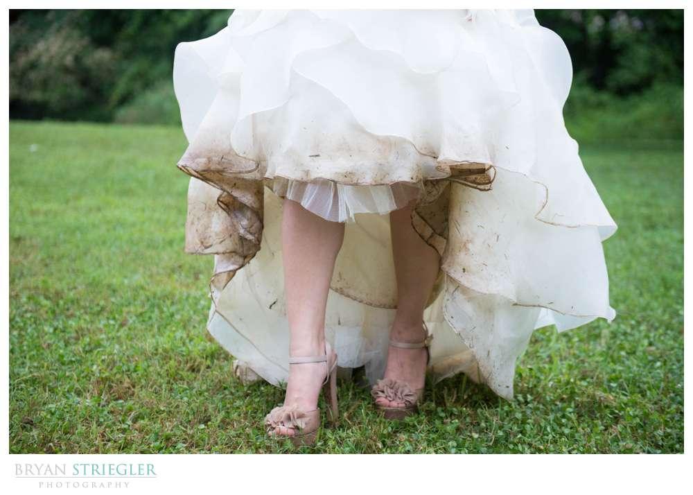 Rogers Wedding Arkansas muddy dress