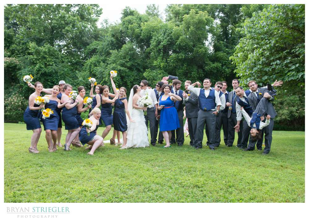 Rogers Wedding Arkansas bridal party acting crazy