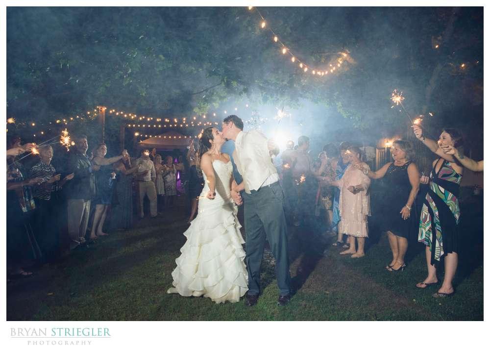 Rogers Wedding Arkansas sparkler exit