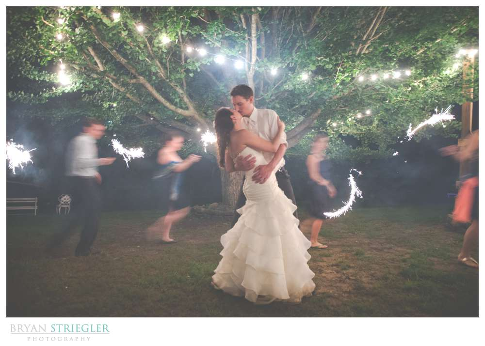 Rogers Wedding Arkansas long exposure sparklers