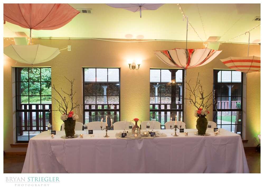 Creative wedding head table