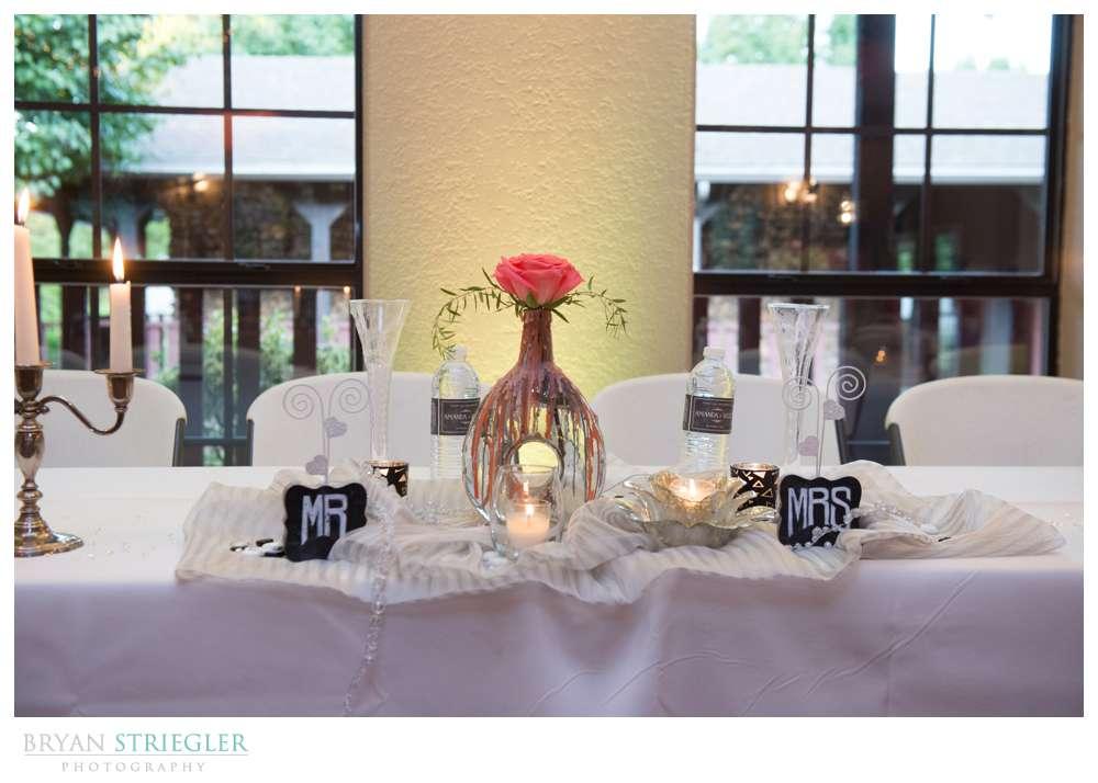 Creative wedding head table decorations