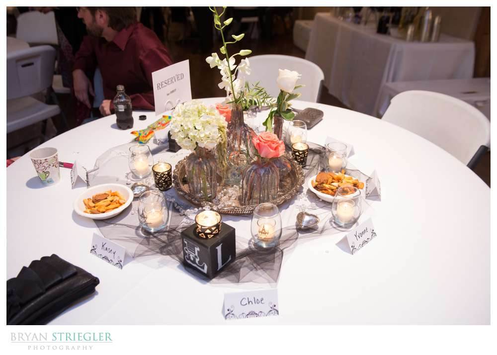 Creative wedding guest table