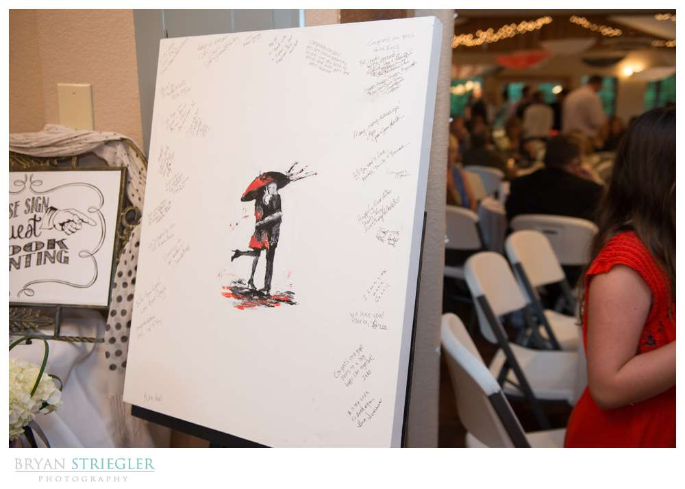 Creative wedding guest book painting