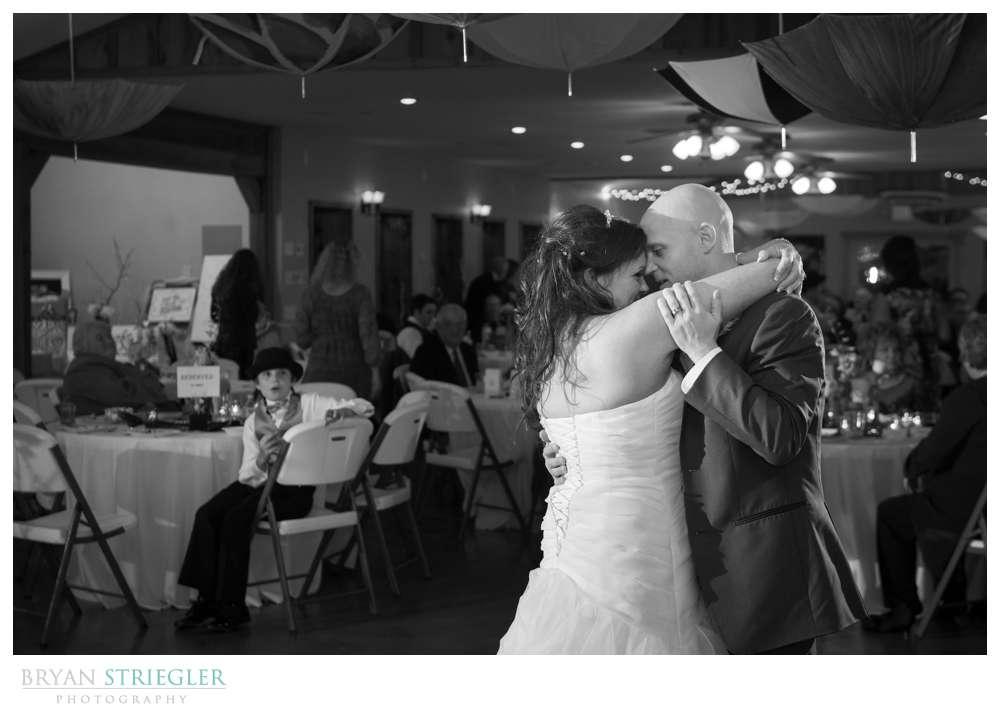 Creative wedding dancing black and white