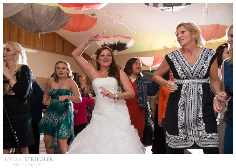 Creative wedding dancing