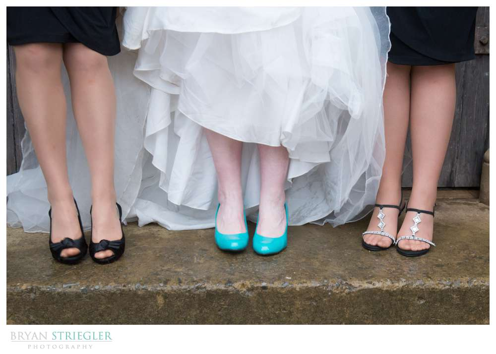 Fayetteville Wedding Photographer bride and bridesmaids' shoes